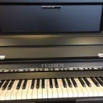 Feurich Klavier, Feurich Klavier 123 Vienna, Klavier schwarz satiniert, Marken Klavier, Klavier-Atelier Burkhard Casper